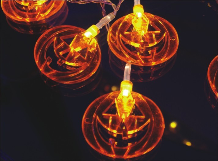 made in china  FY-009-A208 LED LIGHT CHAIN WITH PUMPKIN DECORATION  corporation