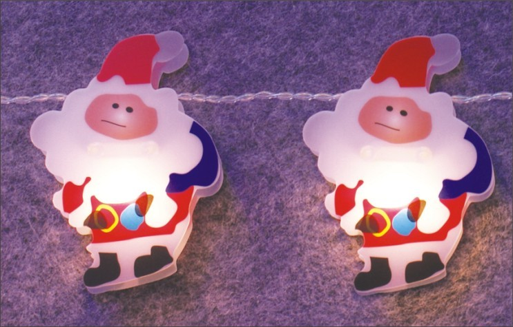 made in china  FY-009-C64 LED LIGHT CHAIN WITH PVC SANTA CLAUS  company
