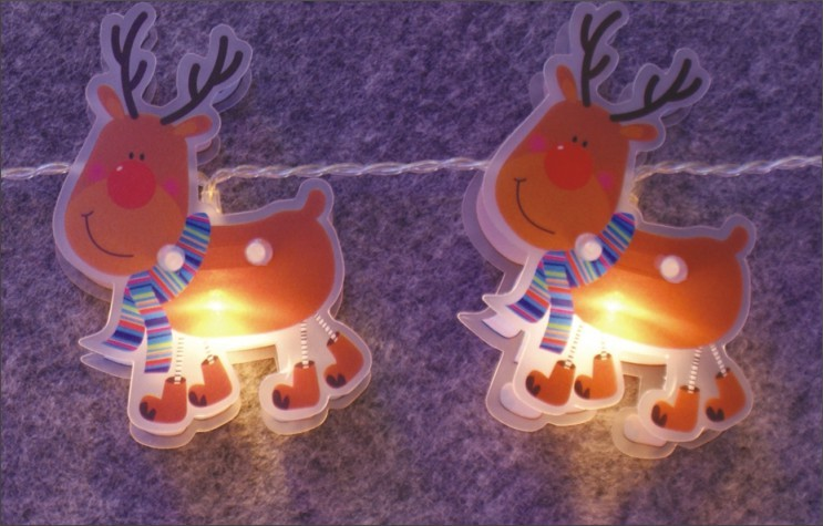 manufacturer In China FY-009-C67 LED LIGHT CHAIN WITH PVC REINDEER  distributor