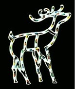 manufacturer In China cheap christmas deer plastic frame light bulb lamp  factory