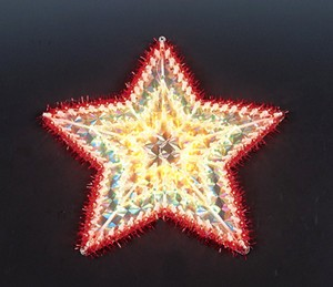 made in china  cheap christmas star plastic frame light bulb lamp  distributor